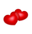 two red heart symbol vector image vector image