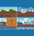 urban city day time background vector image vector image