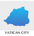 vatican city map in europe continent design vector image