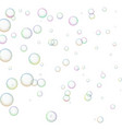 wallpaper with soap bubbles vector image vector image