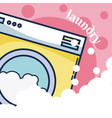 washer machine laundry concept vector image