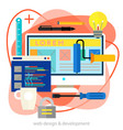webdesign and development concept trendy bright vector image