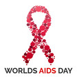 worlds aids day concept background cartoon style vector image vector image