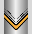yellow arrow direction on silver black line vector image vector image