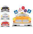 Yellow car taxi vector image vector image