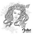 zodiac of sagittarius as girl with vector image