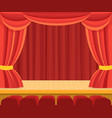 theater scene with a red curtain vector image