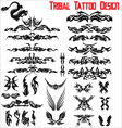 tribal tattoo design - set vector image