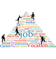 Business people climb job rat race work vector image