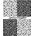 4 Paradox zentangle patterns vector image