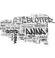 a case for blotter art text word cloud concept vector image vector image
