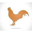 Abstract colorful rooster vector image