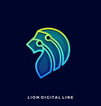 abstract lion template vector image
