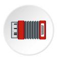 accordion icon circle vector image vector image