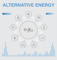 alternative energy infographic with icons vector image