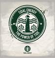 alternative tidal energy stamp vector image vector image