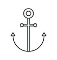 anchor nautical maritime linear icon style white vector image vector image