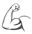 arm bicep strong hand icon cartoon hand drawn vector image vector image