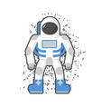 Astronaut on a white background Cosmic traveler vector image