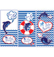 baby boy shower nautical set party decoration vector image
