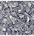 bathroom hand drawn doodles seamless vector image vector image