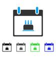 birthday cake calendar day flat icon vector image vector image
