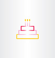 birthday cake symbol icon design element vector image