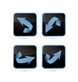 Black and Blue Abstract Arrows Set vector image