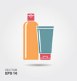 bottles of shampoo or hair conditioner in flat vector image