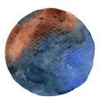 brown and indigo watercolor circle banner vector image