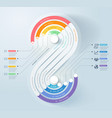 business infographics timeline template background vector image