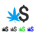 cannabis business flat icon vector image vector image