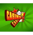 Casino poster vector image vector image