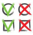 check mark tick icon shape brush box color vector image vector image