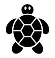 child turtle icon simple style vector image