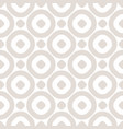circles seamless pattern abstract beige and white vector image vector image