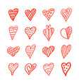 collection heart8 vector image vector image