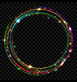 colored glowing rings vector image vector image