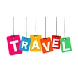 colorful hanging cardboard Tags - travel vector image vector image