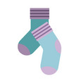 colorful silhouette of pair of socks vector image vector image