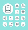 communication icons set collection of connect vector image vector image