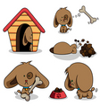 cute cartoon dog vector image vector image