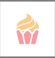 delicious ice cream sweet dessert logo vector image