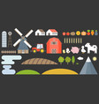 design elements farm and barn collection vector image vector image