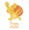 easter bunny carry on the egg vector image vector image