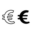 euro sign line and glyph icon currency vector image