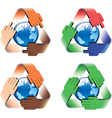 Global safe recycling vector image vector image