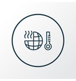 global warming icon line symbol premium quality vector image vector image