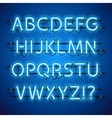 Glowing Neon Blue Alphabet vector image vector image
