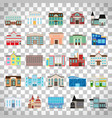government buildings on transparent background vector image